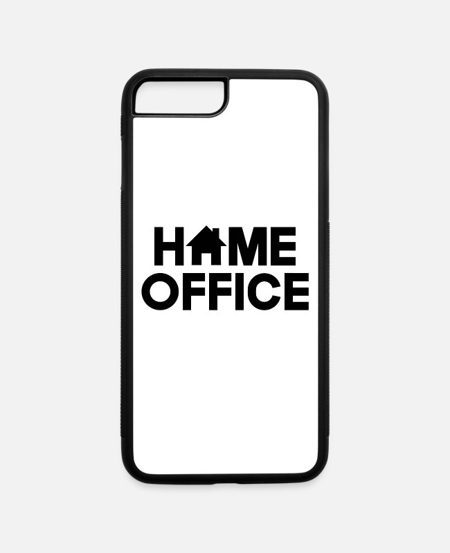 Office iPhone Cases - HOME OFFICE - iPhone 7 & 8 Plus Case white/black
