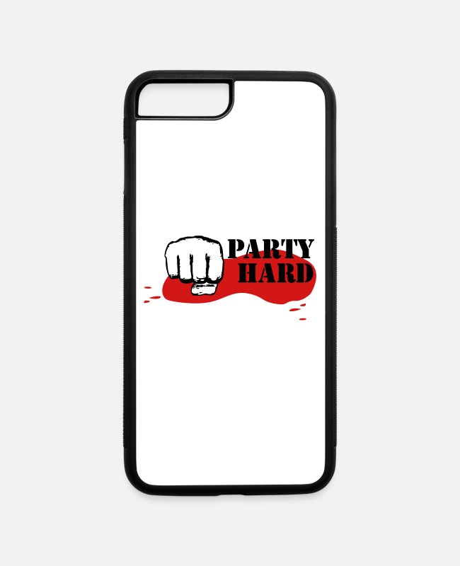 Festival iPhone Cases - Party Hard in the Moshpit - iPhone 7 & 8 Plus Case white/black