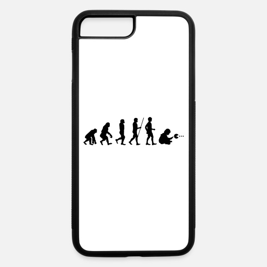 Homo iPhone Cases - Evolution Gamer Cool Geek Funny Games Computer - iPhone 7 & 8 Plus Case white/black