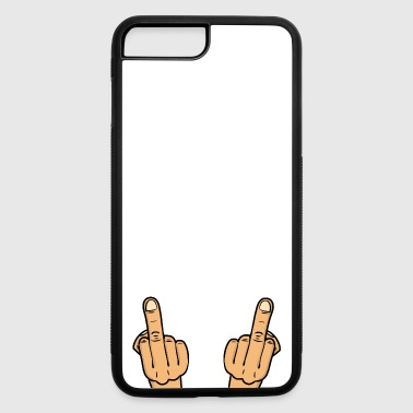 double fuck/ two middle fingers - iPhone 7 Plus/8 Plus Rubber Case