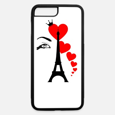 Valentines &amp Eiffel Tower & Hearts - iPhone 7 & 8 Plus Case