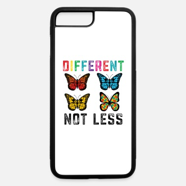 Autism Awareness Autism Awareness Butterfly Different Not Less - iPhone 7 & 8 Plus Case