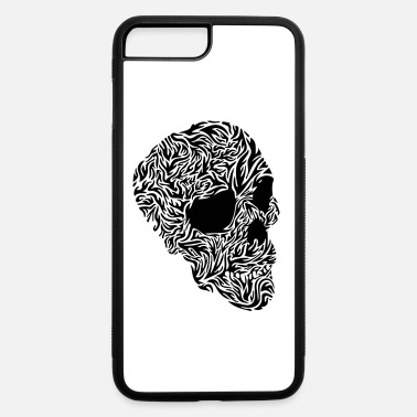 Black And White skull black and white - iPhone 7 & 8 Plus Case