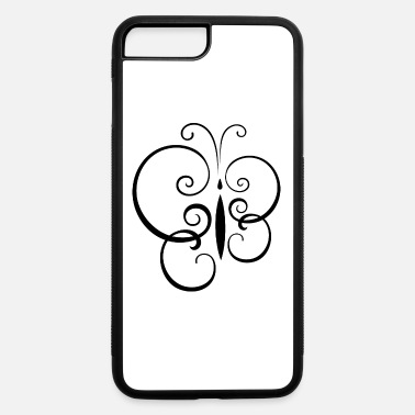 Tatoo shape butterfly insect wildlife vector cool - iPhone 7 & 8 Plus Case