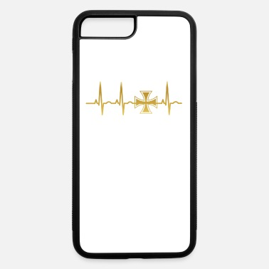 Kreuz evolution ekg heartbeat iron cross eisernes kreuz - iPhone 7 Plus/8 Plus Rubber Case