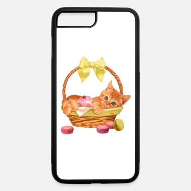 Basket Kitty In Basket - iPhone 7 Plus/8 Plus Rubber Case