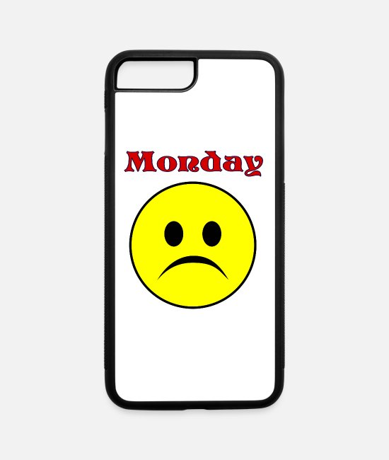Weekend iPhone Cases - Monday - iPhone 7 & 8 Plus Case white/black