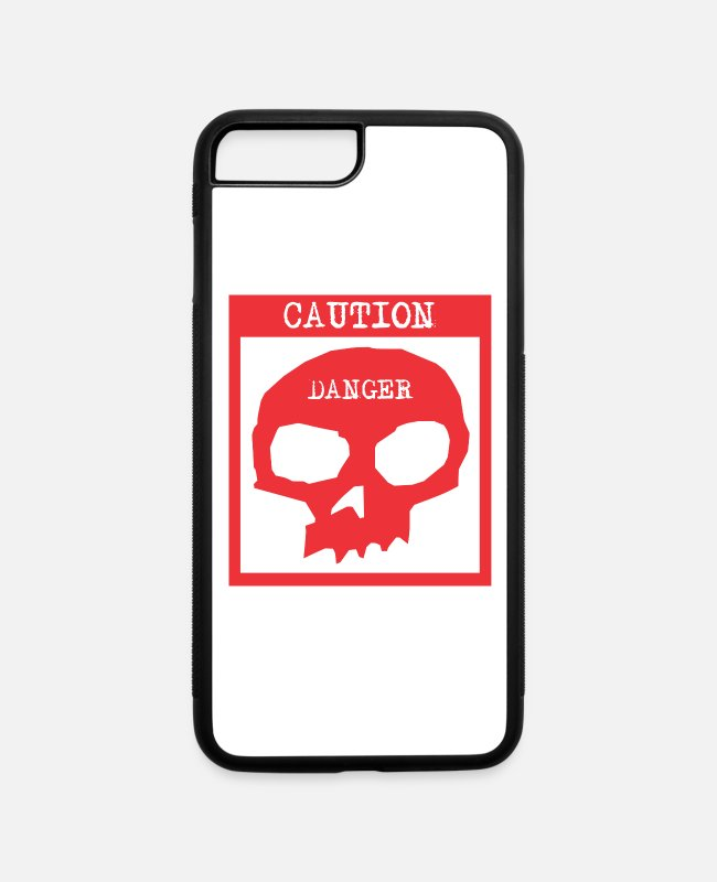 Hipster iPhone Cases - Caution Danger - iPhone 7 & 8 Plus Case white/black