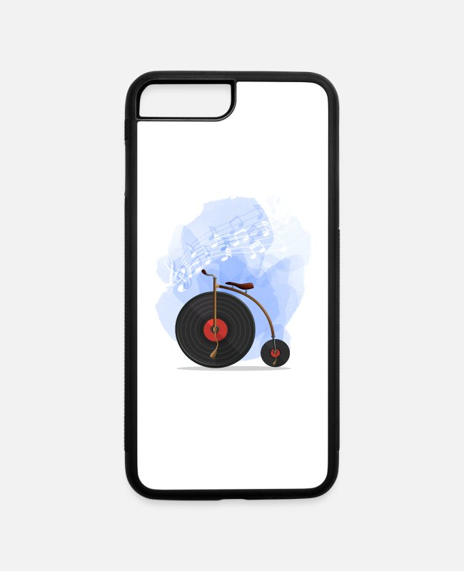 Hipster iPhone Cases - Bicycle With Record - iPhone 7 & 8 Plus Case white/black