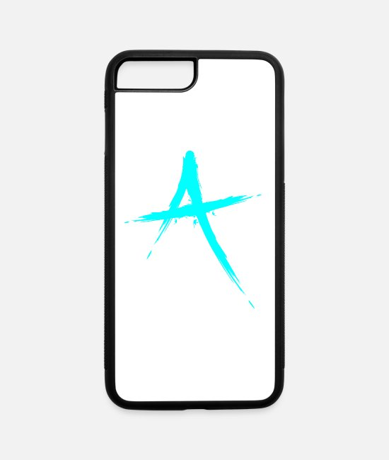 Alphabet iPhone Cases - Letter A symbol initial letter - iPhone 7 & 8 Plus Case white/black