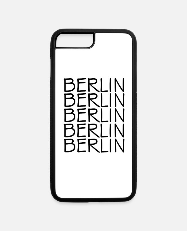 Spree iPhone Cases - Berlin - Deutschland - Germany - Brandenburg Gate - iPhone 7 & 8 Plus Case white/black