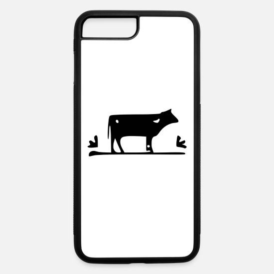 New iPhone Cases - Cow black - iPhone 7 & 8 Plus Case white/black