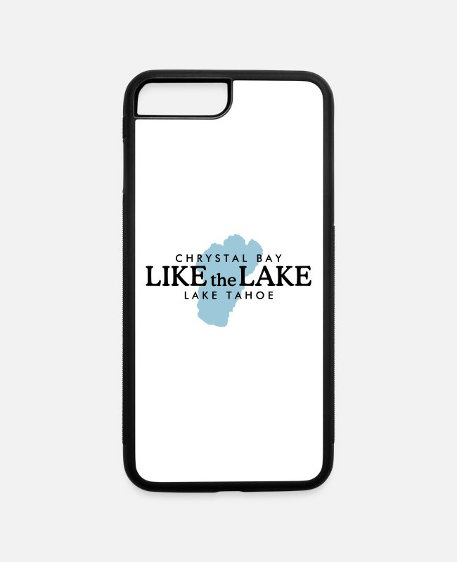 Boating iPhone Cases - Lake Tahoe Crystal Bay - Like the Lake - iPhone 7 & 8 Plus Case white/black