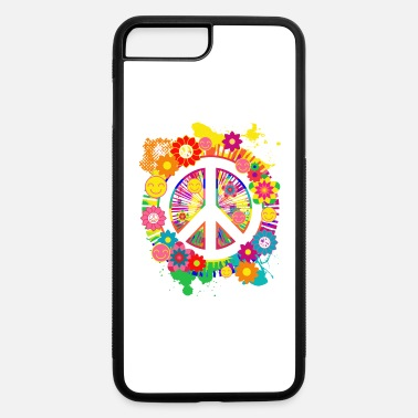 Movement Peace Sign And Happiness Colorful Floral 70s Shirt - iPhone 7 & 8 Plus Case