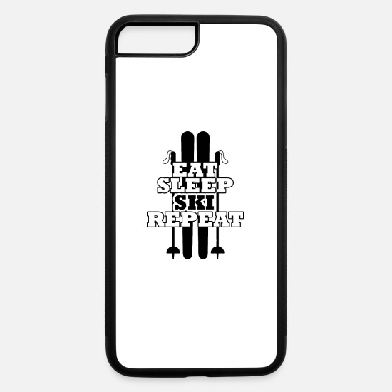 Freestyle iPhone Cases - Ski Ski club Skier Ski holidays Skiing - iPhone 7 & 8 Plus Case white/black