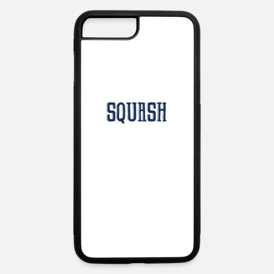 Squash iPhone Cases - Squash Team Squash Player Squash Racket Game - iPhone 7 & 8 Plus Case white/black