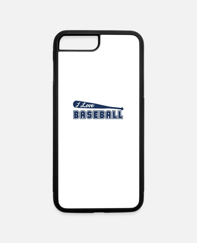 Ball iPhone Cases - Baseball Player - iPhone 7 & 8 Plus Case white/black