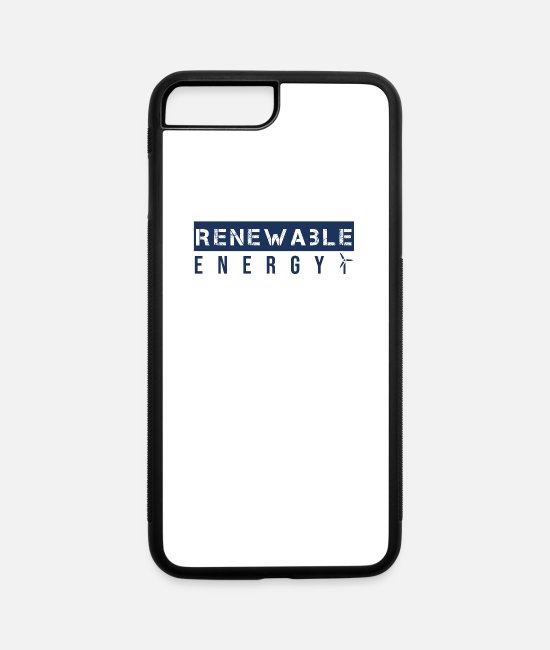 Water iPhone Cases - Clean Energies - iPhone 7 & 8 Plus Case white/black