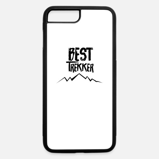 Mountains iPhone Cases - Hike Trekking Trekker Hiker Hiking - iPhone 7 & 8 Plus Case white/black