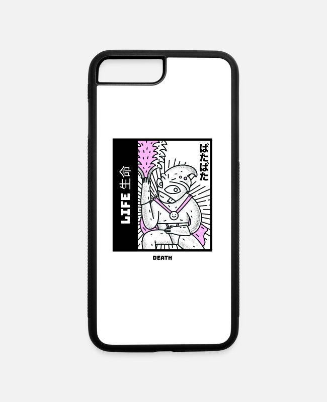 Dope iPhone Cases - 90s Japanese Aesthetic Moster Okatu Shirt - iPhone 7 & 8 Plus Case white/black