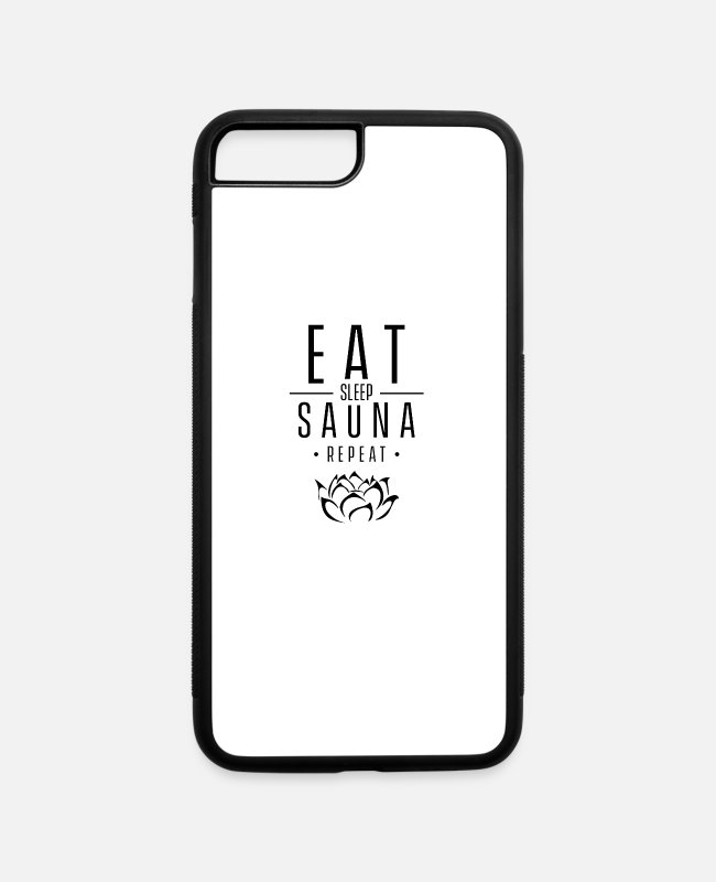 Heat iPhone Cases - Hot Sauna Heat Room Saunas Sweat Sweating - iPhone 7 & 8 Plus Case white/black