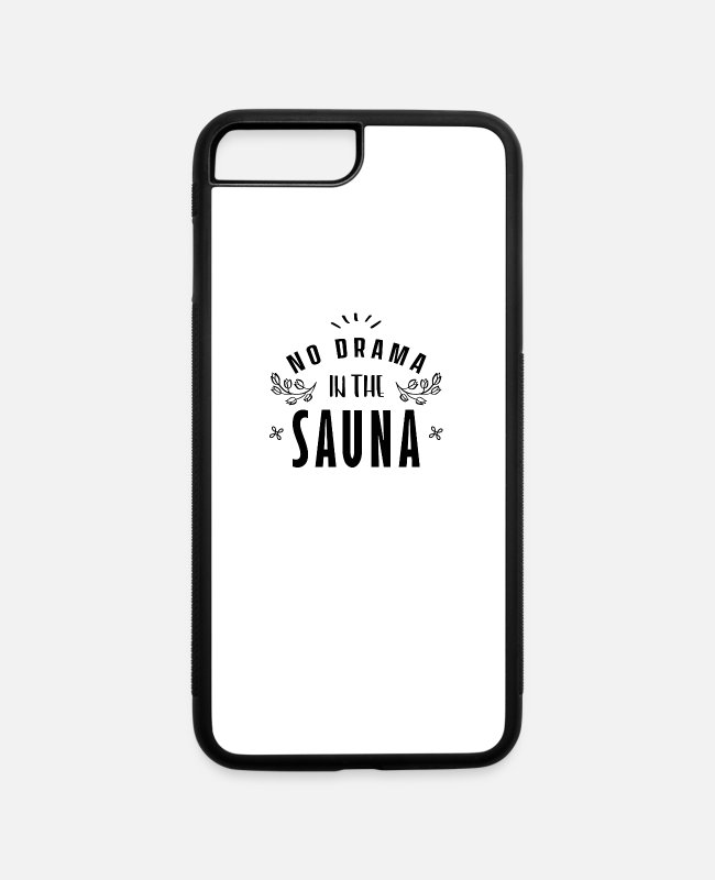 Heat iPhone Cases - Heat Room Sauna Sweat Sweating Hot Saunas - iPhone 7 & 8 Plus Case white/black