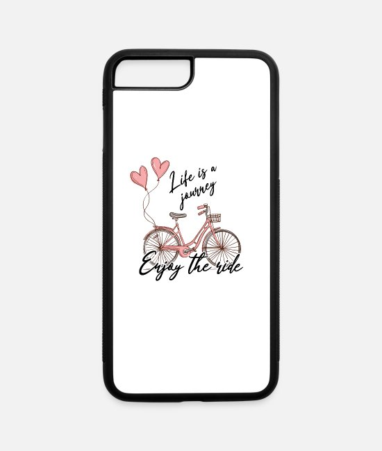 Quote iPhone Cases - Life is a journey - Enjoy the ride! - iPhone 7 & 8 Plus Case white/black