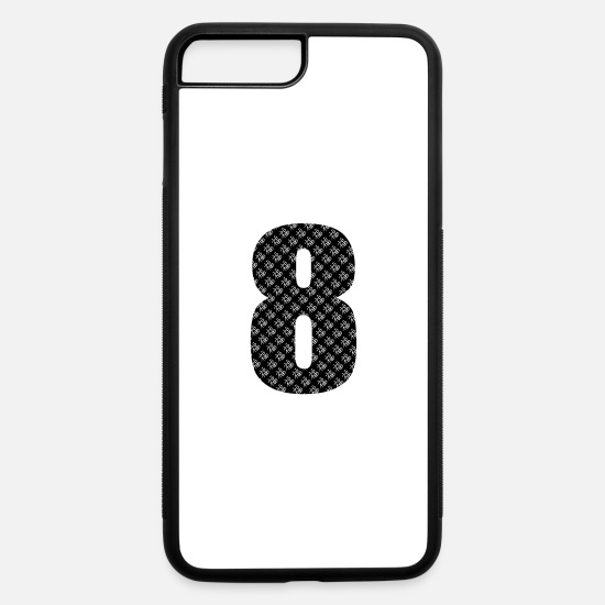 Lucky iPhone Cases - Lucky Number 8 with Lucky Chinese Character - iPhone 7 & 8 Plus Case white/black