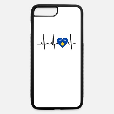 Kosovare I LOVE ekg heartbeat Kosovo balkan kosovar - iPhone 7 & 8 Plus Case
