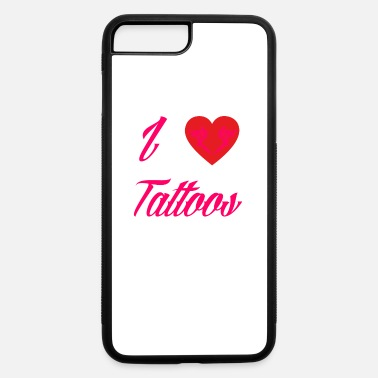 Tintling love tattoos taetowiert needle geschenk farbe tint - iPhone 7 & 8 Plus Case
