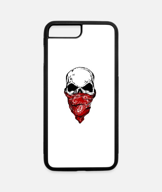 Red iPhone Cases - The Bandit Skull - iPhone 7 & 8 Plus Case white/black