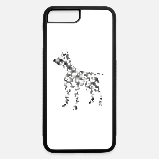 Birthday iPhone Cases - Dog Exclusive Design Gift idea Mosaic Fashion art - iPhone 7 & 8 Plus Case white/black