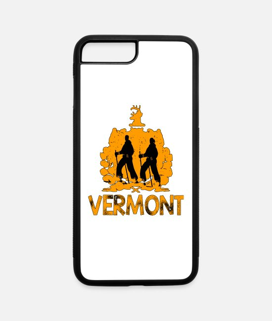 Ski iPhone Cases - Cross Country Skiing product Vermont American - iPhone 7 & 8 Plus Case white/black