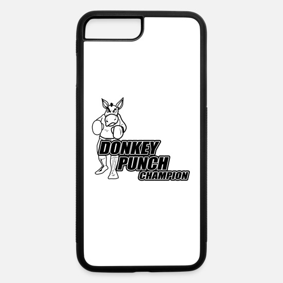 Christmas iPhone Cases - Donkey Punch Champion - iPhone 7 & 8 Plus Case white/black