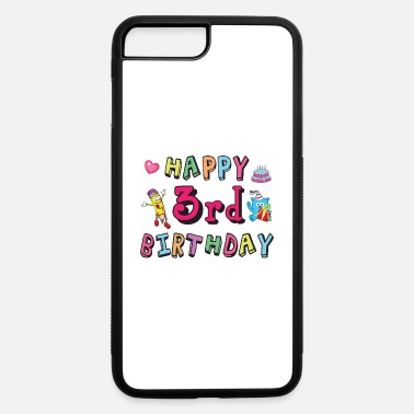 Match Happy 3rd Birthday - 3 year b-day - iPhone 7 & 8 Plus Case