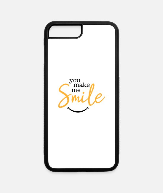 Happiness iPhone Cases - You make me smile - iPhone 7 & 8 Plus Case white/black