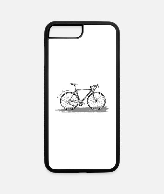 Quote iPhone Cases - Enjoy the ride Bike Bicycle - iPhone 7 & 8 Plus Case white/black