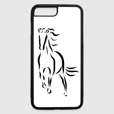 gallopping horse stallion Mare drawing stud ride - iPhone 7 Plus/8 Plus Rubber Case