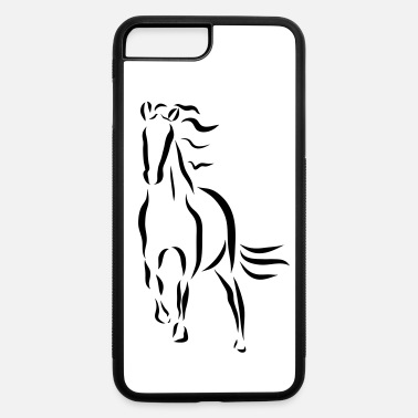 Gallop gallopping horse stallion Mare drawing stud ride - iPhone 7 & 8 Plus Case