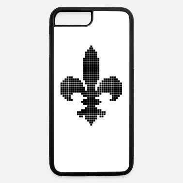 Fleur-de-lis-flower Original Black Mosaic One piece Fleur De Lis - iPhone 7 & 8 Plus Case