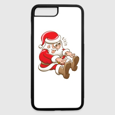 Seated Santa stretching to touch boots - iPhone 7 Plus/8 Plus Rubber Case