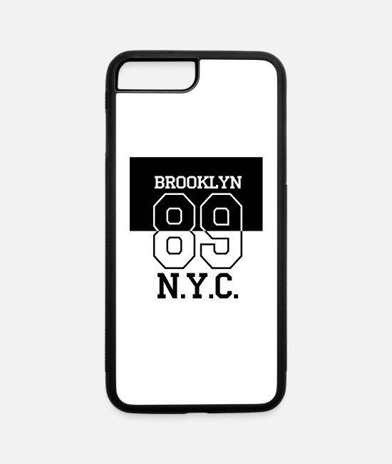 Design iPhone Cases - Brooklyn 89 NY - iPhone 7 & 8 Plus Case white/black