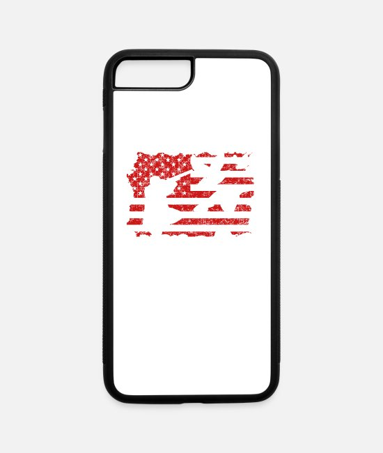 Duck Hunting Flag iPhone Cases - Duck Hunting Flag Tee Shirt - iPhone 7 & 8 Plus Case white/black