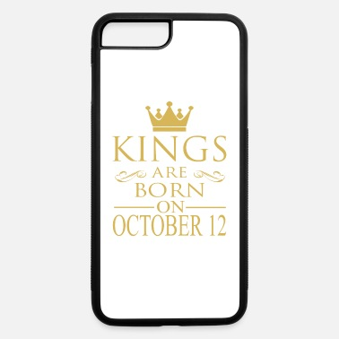 Funny Vintage Couple Cool October Kings are born on October 12 - iPhone 7 & 8 Plus Case