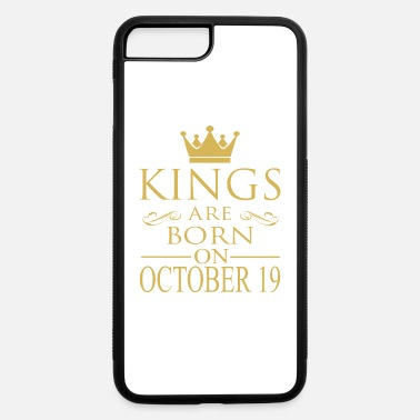 Funny Vintage Couple Cool October Kings are born on October 19 - iPhone 7 & 8 Plus Case