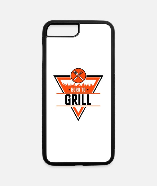Grillmaster iPhone Cases - Born to grill - iPhone 7 & 8 Plus Case white/black