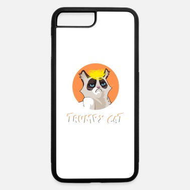 Cat Trump President USA trumpy joke karrikatur lol - iPhone 7 & 8 Plus Case