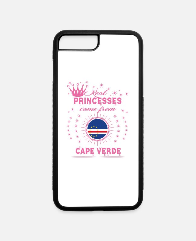 Proud iPhone Cases - queen real princesses princess from CAPE VERDE - iPhone 7 & 8 Plus Case white/black