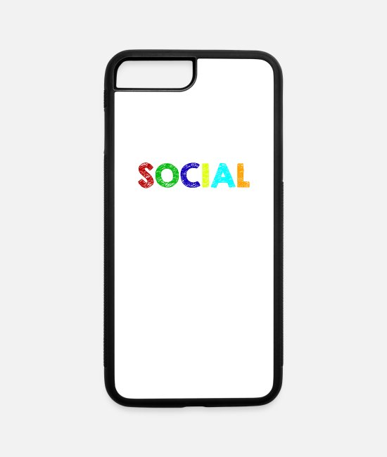 Social iPhone Cases - Social worker - iPhone 7 & 8 Plus Case white/black