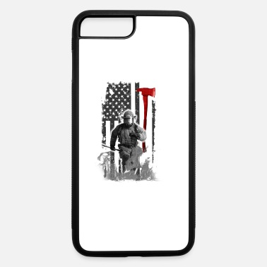 Fighter Fireman flag gift job save life heroes American - iPhone 7 Plus/8 Plus Rubber Case